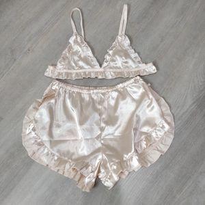 NWOT Silky light pink lingerie / pajama set